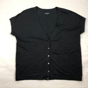Eileen Fisher Short Sleeve Cardigan 100% Linen